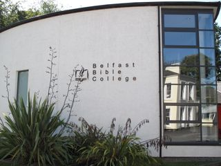 The Worship Center on the campus of Belfast Bible College.