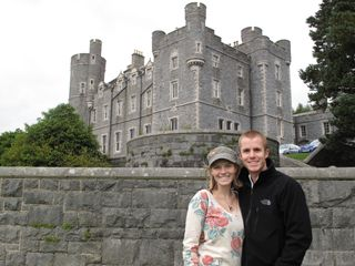 Me and Tanner in front of Castlewellan!
